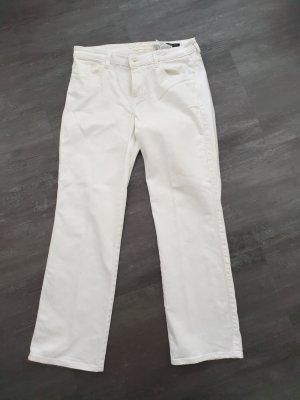 Guess Jeansy z prostymi nogawkami biały
