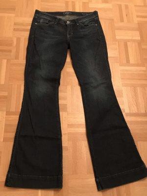 Guess Jeans flare bleu foncé