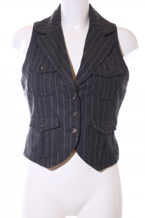 Guess Jeans Anzugweste schwarz Streifenmuster Business-Look