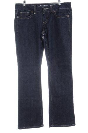 Guess Jeans Boot Cut Jeans dunkelblau Jeans-Optik