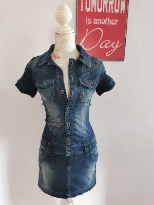 Guess Jeans Robe en jean bleu foncé coton
