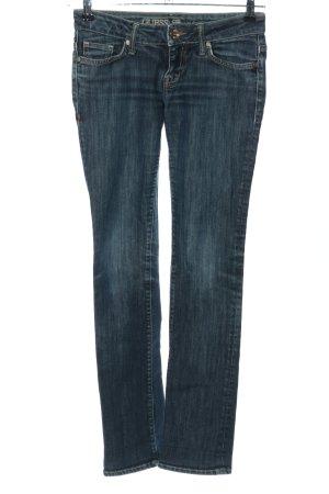 Guess Jeans Hüftjeans blau Casual-Look