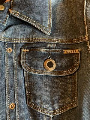 Guess Jeans de moto bleu