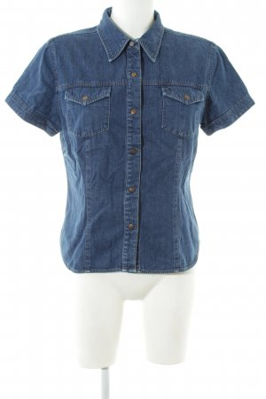 Guess Jeans Jeansbluse blau Casual-Look