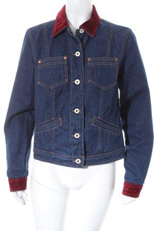 Guess Jeans Jeansjacke dunkelblau-dunkelrot sportlicher Stil