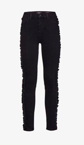 Guess Jeans Rüschen Skinny Röhrenjeans Strech High Waist Schwarz S W26