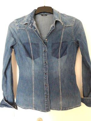 Guess Blouse en jean bleu
