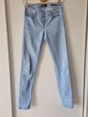Guess Jeans skinny argenté-bleu azur