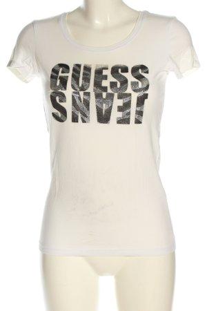 Guess Jeans T-Shirt Schriftzug gedruckt Casual-Look