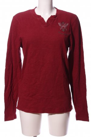 Guess Jeans V-Ausschnitt-Shirt rot Motivdruck Casual-Look