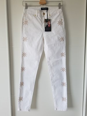 GUESS Jeans, weiß, Nieten, Gr.36, Weite 26