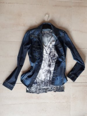 Guess Blusa denim blu scuro