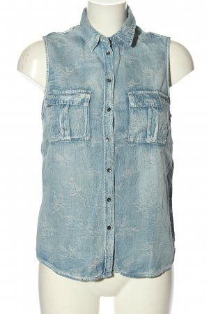 Guess Jeansbluse blau Casual-Look
