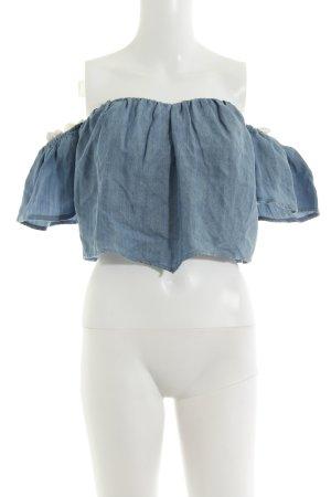 Guess Jeansbluse kornblumenblau-dunkelblau Jeans-Optik
