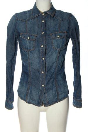 Guess Chemise en jean bleu style décontracté