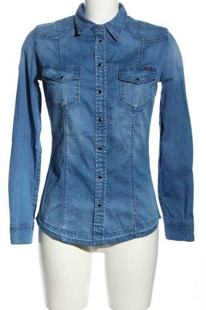 Guess Jeansowa koszula niebieski W stylu casual