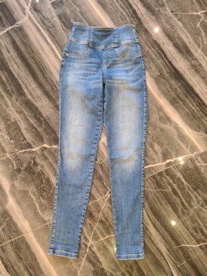 Guess Skinny Jeans cornflower blue cotton