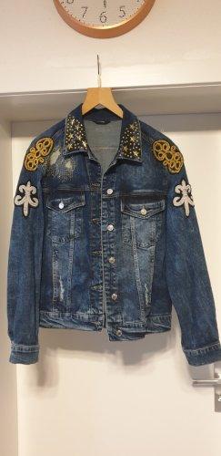 Guess Jeansowa kurtka niebieski-stalowy niebieski