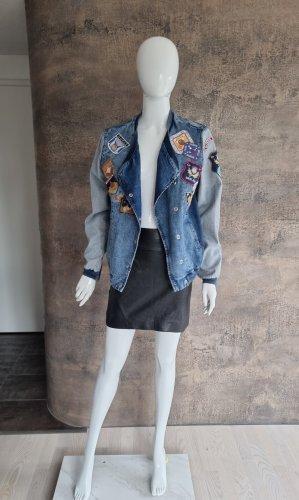 Guess Veste en jean bleu-bleu clair coton