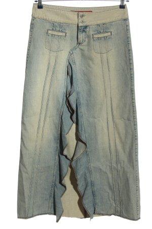 Guess Jeansowa spódnica niebieski-bladożółty W stylu casual