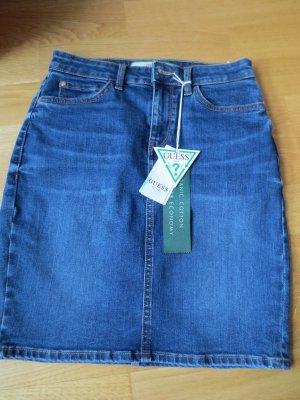 Guess Jeansowa spódnica niebieski
