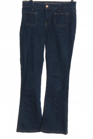 Guess Jeansschlaghose blau Casual-Look