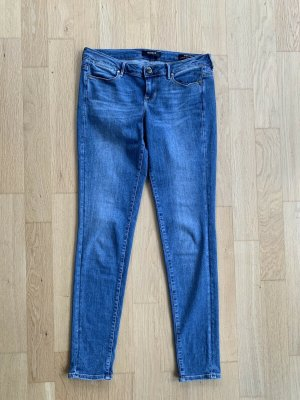 Guess Stretch Jeans cornflower blue-steel blue cotton