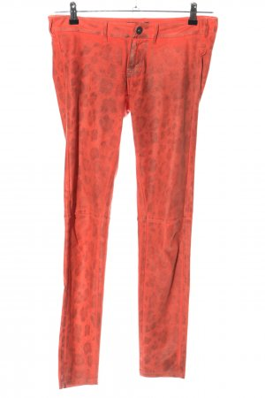Guess Jeggings rot-hellgrau Allover-Druck Casual-Look