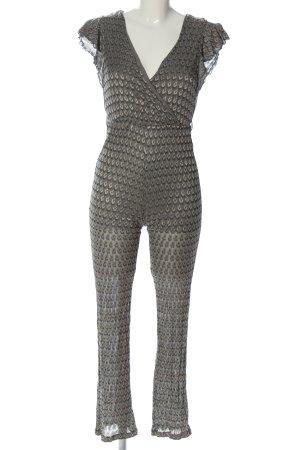 Guess Jumpsuit braun-türkis abstraktes Muster Casual-Look