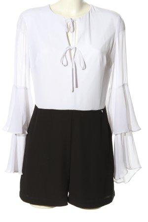 Guess Jumpsuit weiß-schwarz Casual-Look