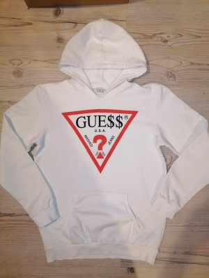 GUESS Los Angeles Blusa con capucha blanco