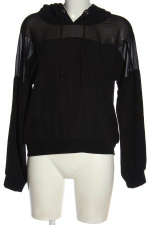 Guess Sweatshirt met capuchon zwart casual uitstraling