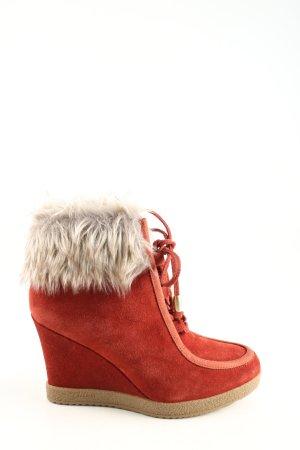 Guess Botas de cuña rojo look casual