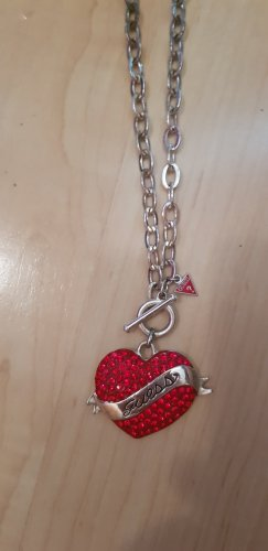 Guess Statement Necklace silver-colored-red