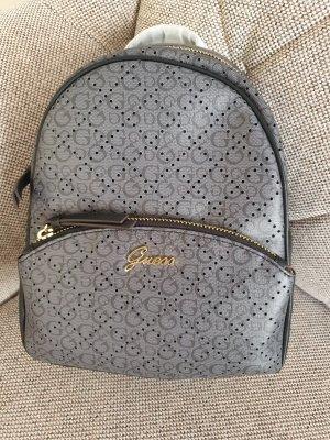 Guess Khloe Backpack rucksack schwarz grau gold logo Tasche
