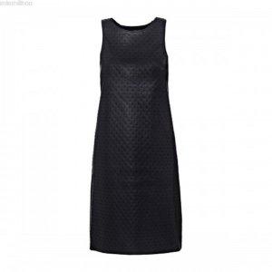 Guess Leren jurk zwart