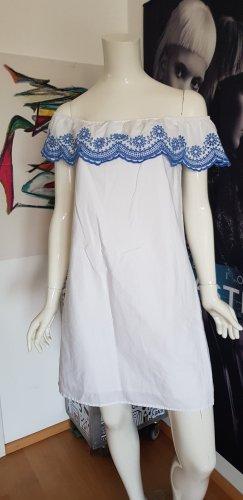 Guess Robe Babydoll blanc-bleu acier