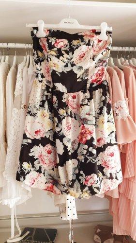 Guess Kleid Sommer Satin Blumen Floral Muster Rosen