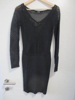 Guess Kleid Strick und Häckel, schwarz, langarm, Gr. 36, NEU, 1x getragen, figurbetont