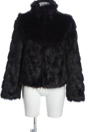 Guess Kurtka ze sztucznym futrem czarny W stylu casual