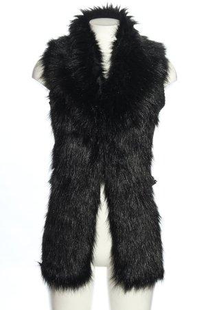 Guess Kamizelka ze sztucznym futrem czarny Wygląd w stylu miejskim