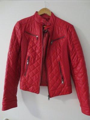 Guess Kunstleder Jacke, Gr. 36/S, Rot, Bikerjacke, NEU, nur 1x getragen, lässig