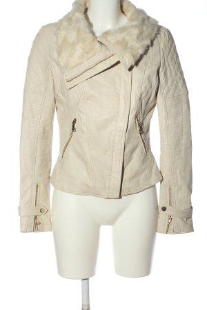Guess Kurtka z imitacji skóry w kolorze białej wełny W stylu casual