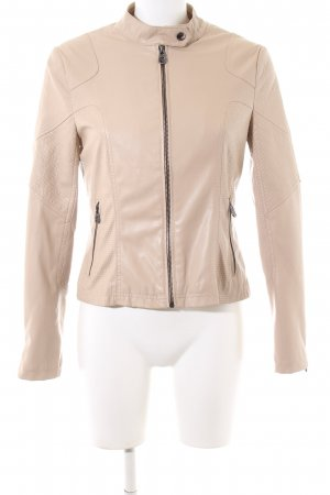 Guess Faux Leather Jacket cream casual look