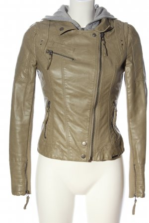 Guess Faux Leather Jacket natural white-light grey casual look