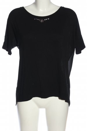 Guess Kurzarm-Bluse schwarz Casual-Look