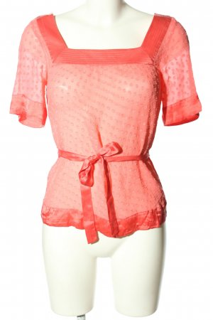 Guess Kurzarm-Bluse rot Casual-Look