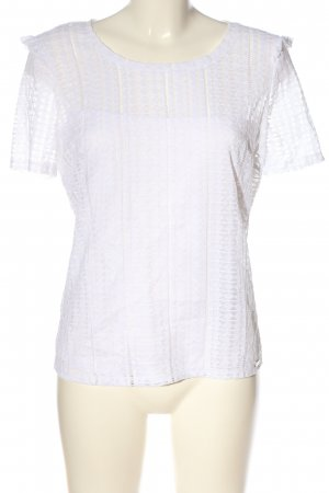 Guess Kurzarm-Bluse weiß Casual-Look