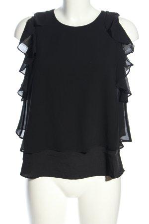 Guess Blusa de manga corta negro look casual