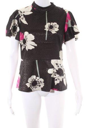 Guess Kurzarm-Bluse mehrfarbig Casual-Look